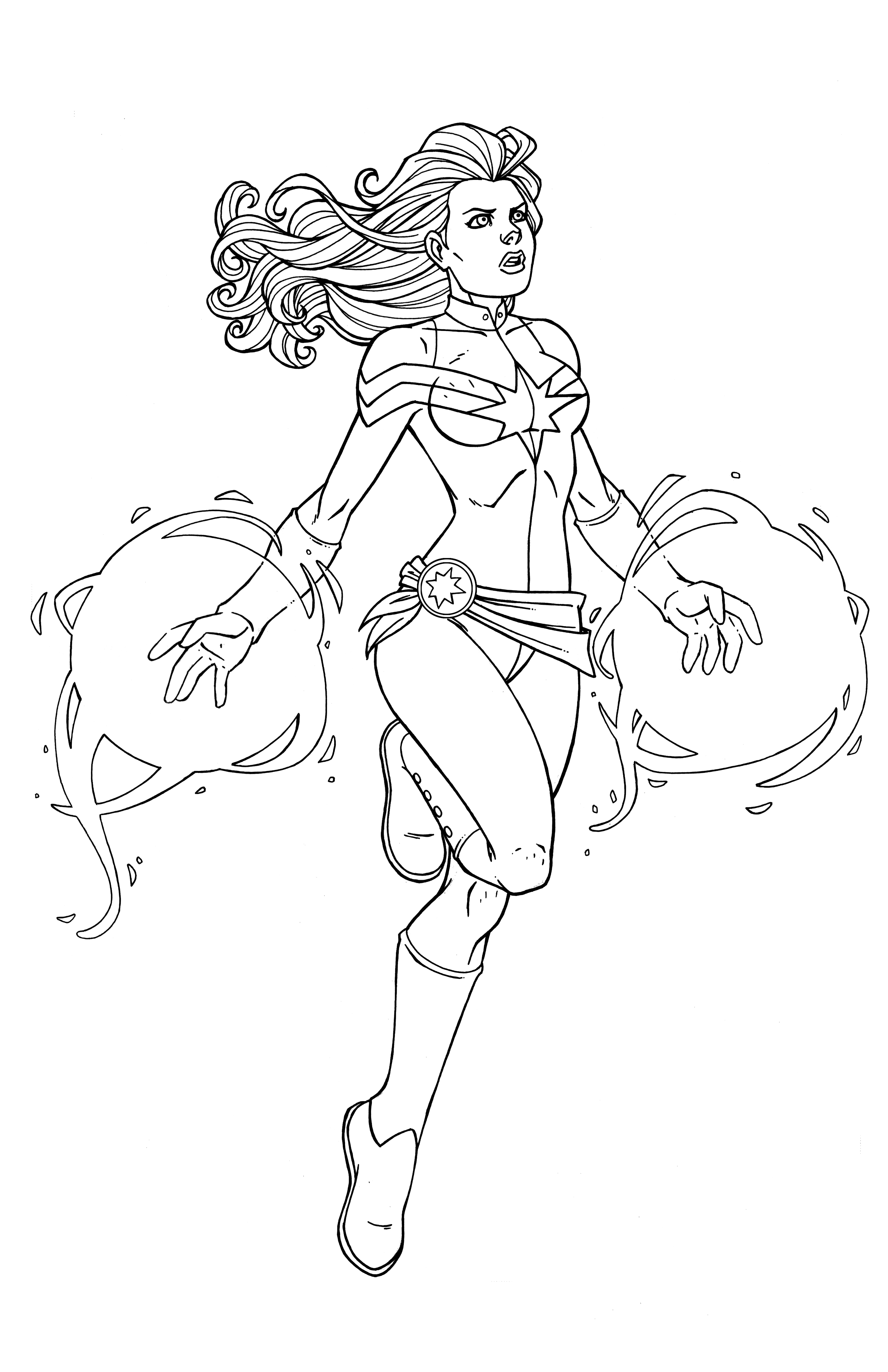 3300x5100 Luxury Captain Marvel Coloring Pages Composition
