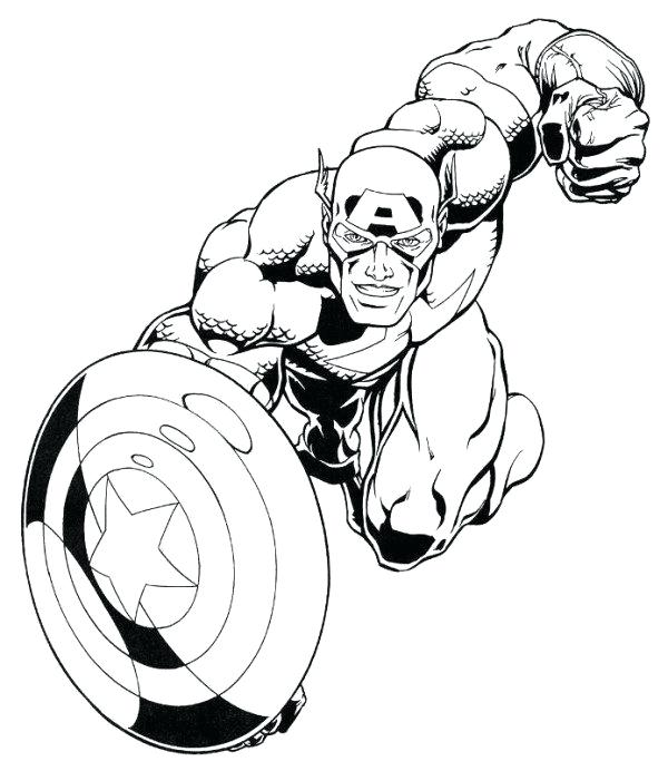 600x692 Marvel Comic Coloring Pages Captain Marvel Superheroes Coloring