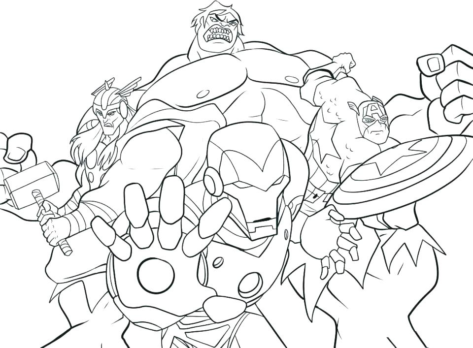 960x707 Avengers Color Pages Avengers Color Pages Avengers Coloring Pages