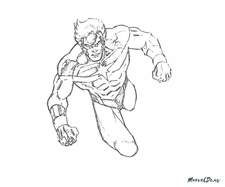 Captain Marvel Coloring Pages At Getdrawings Free Download