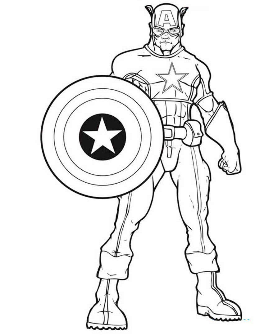 895x1080 The Best Marvel Avengers Coloring Pages Captain America Squad