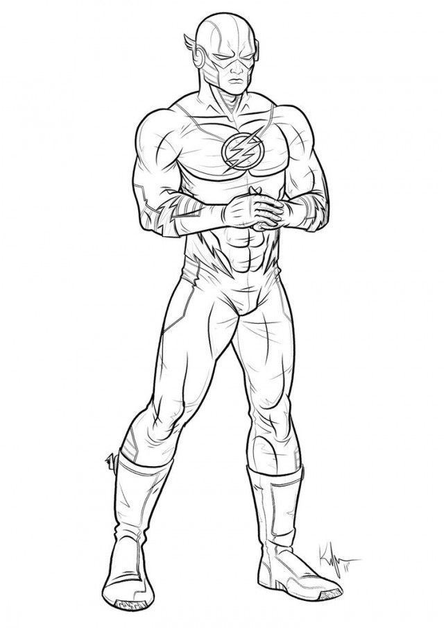 640x904 Captain Marvel Coloring Pages
