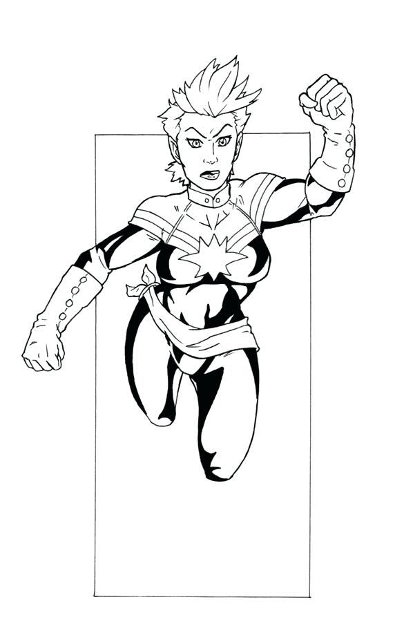 585x900 Marvel Captain America Coloring Pages