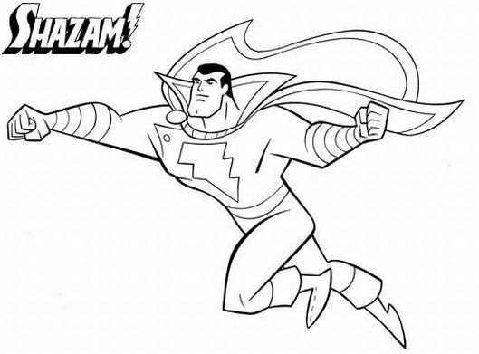 529x391 Marvel Coloring Pages Shazam Free Coloring Pages For Kids
