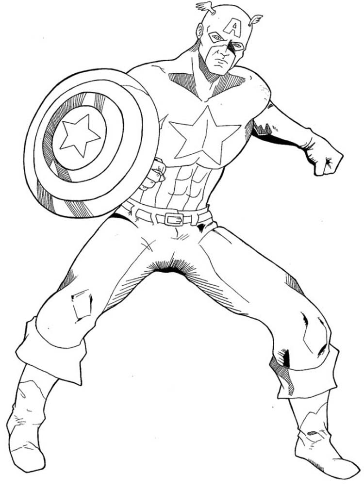 750x1010 Captain America Shield Coloring Pages