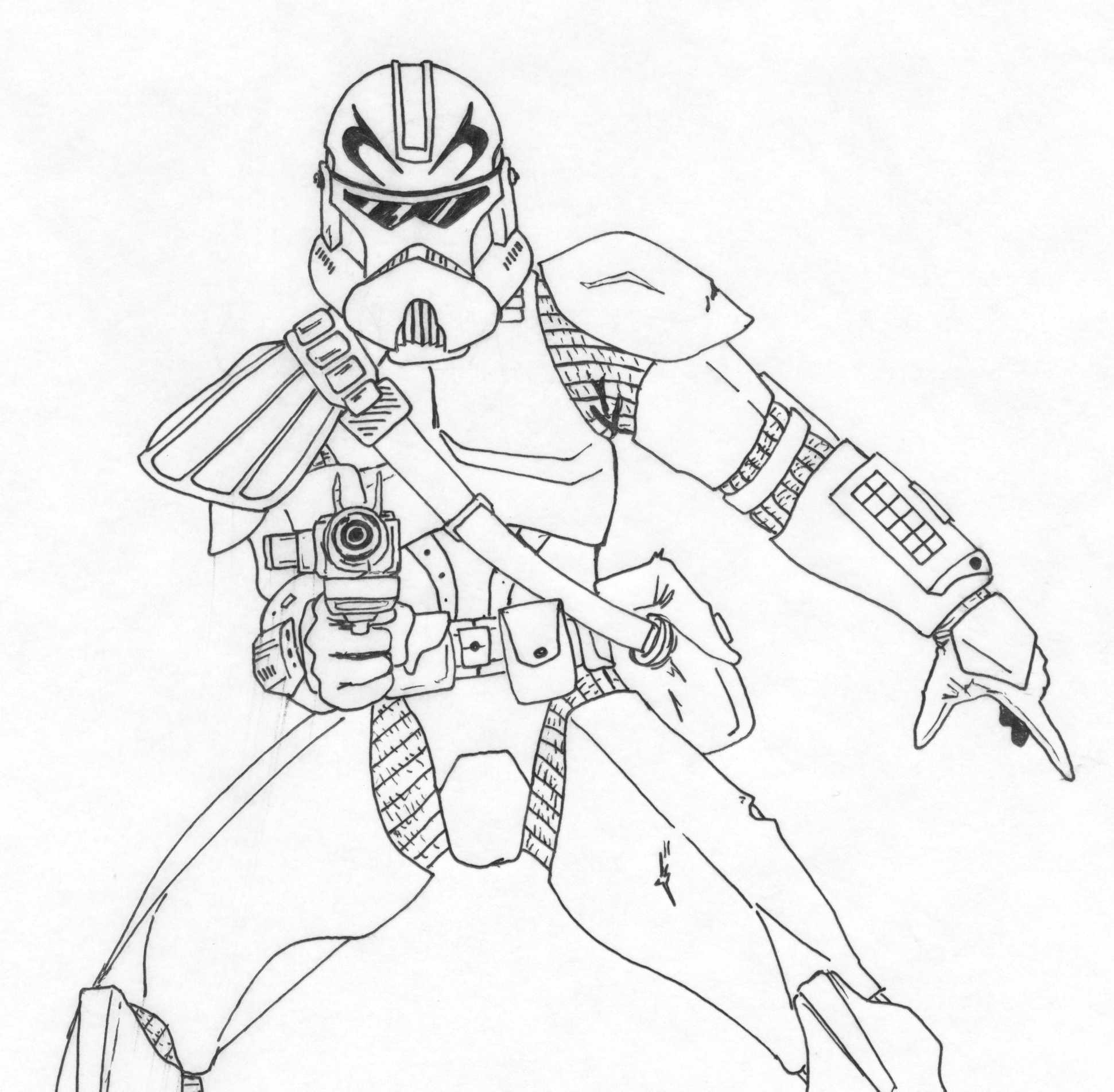 Captain Rex Coloring Pages