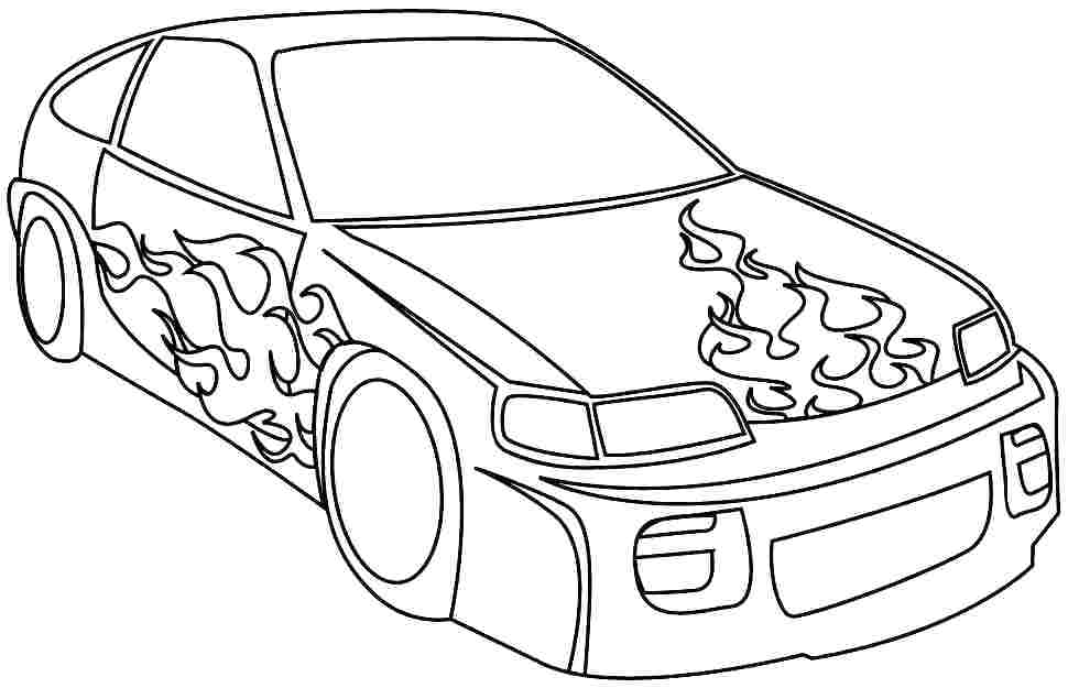 970x625 Fast Car Coloring Pages