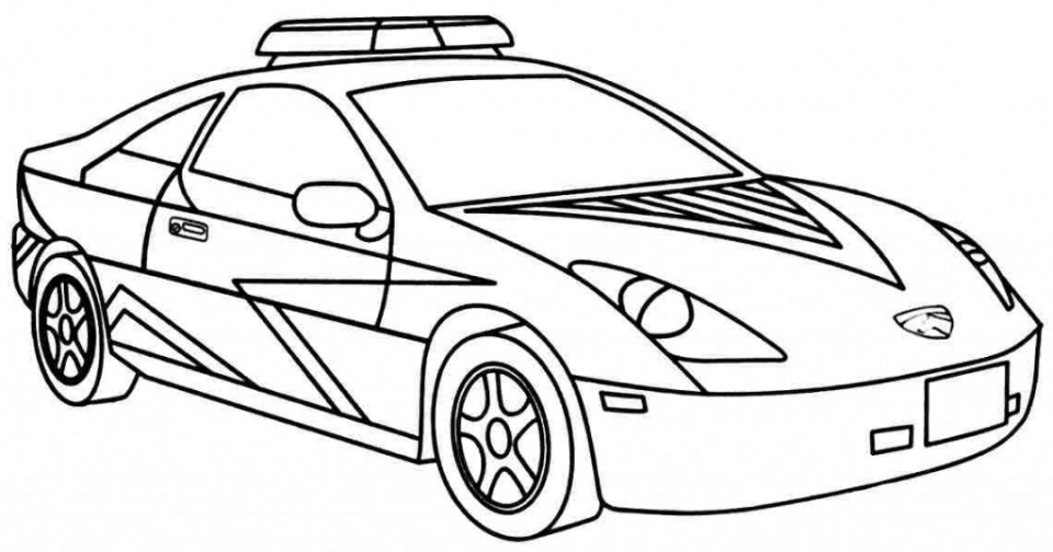 960x504 Police Car Coloring Pages