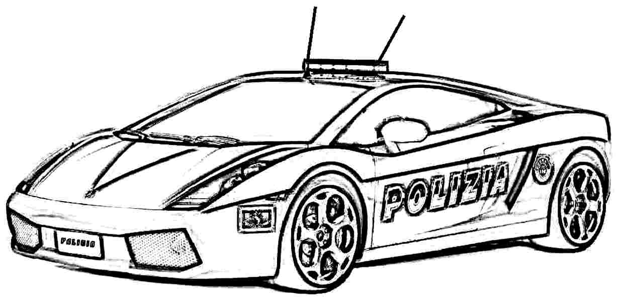 1233x600 Police Car Coloring Pages To Download And Print For Free