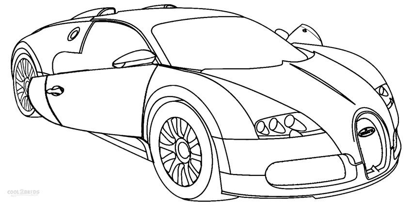 850x425 Printable Bugatti Coloring Pages For Kids Car