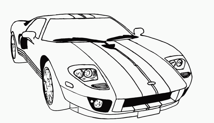 831x479 Race Car Coloring Page Coloring Book