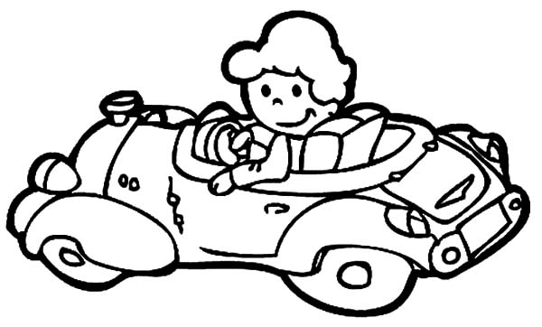 600x362 The Girl Driving Car Coloring Pages The Girl Driving Car Coloring