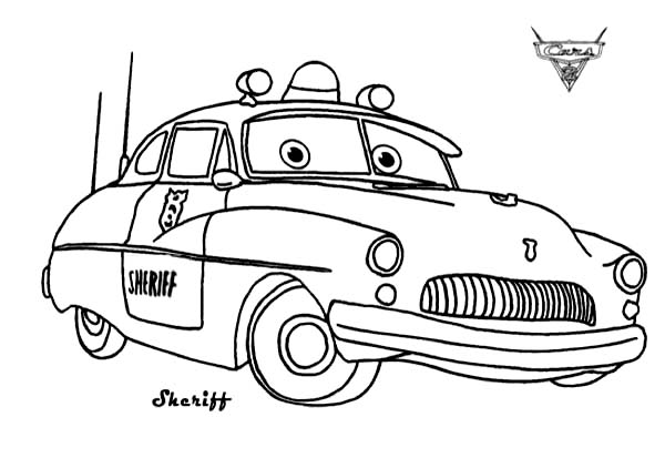600x413 Cars Sheriff From Disney Coloring Page Download Pri On Printables
