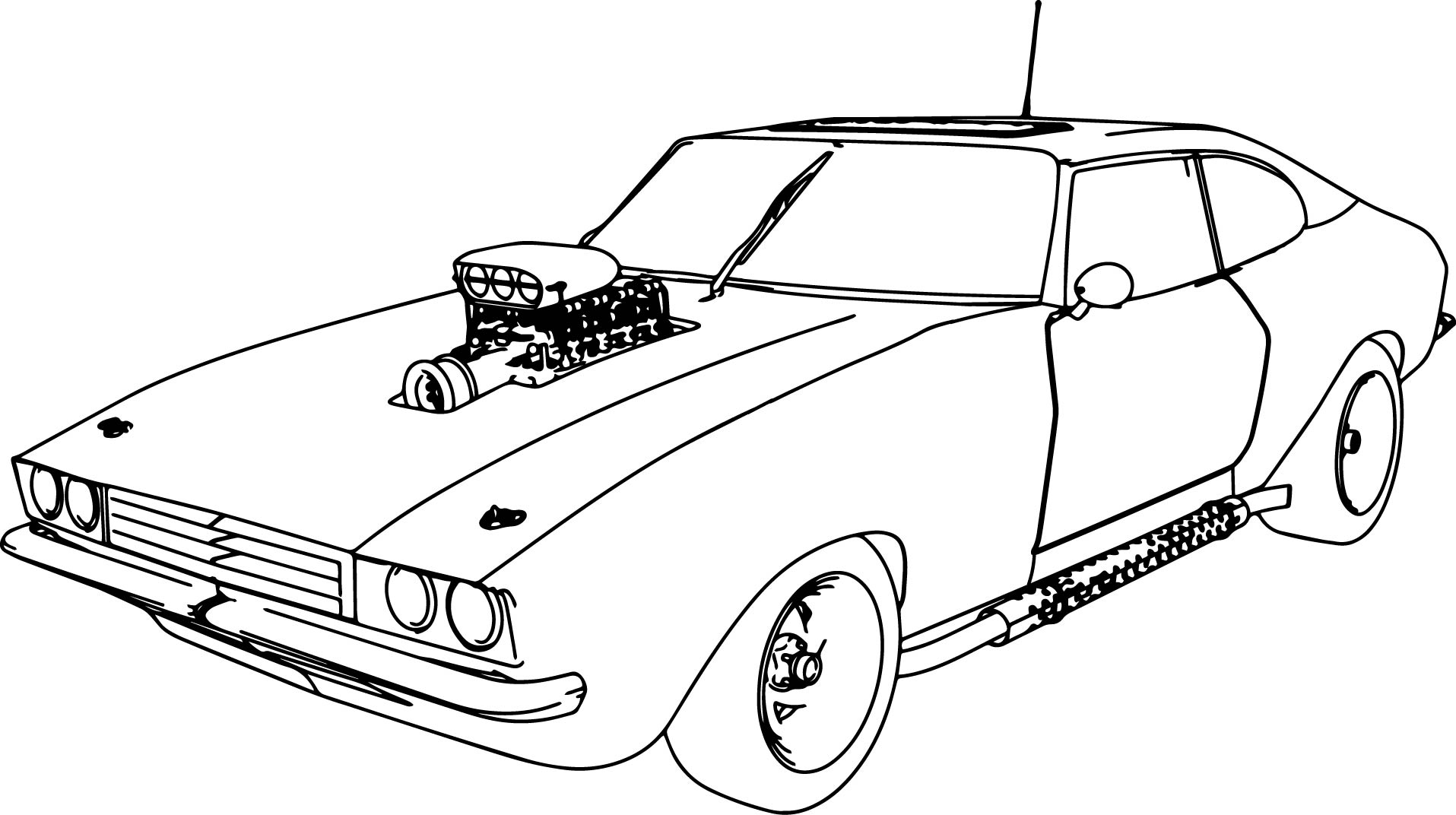 1915x1072 Muscle Car Coloring Pages Download