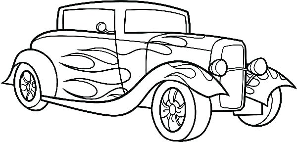 600x287 Car Coloring Page Elegant Cars Ring Page Kids Pages Classic Car