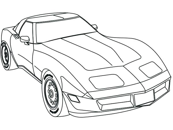 600x449 Race Car Coloring Page Coloring Pages Muscle Cars Coloring Page