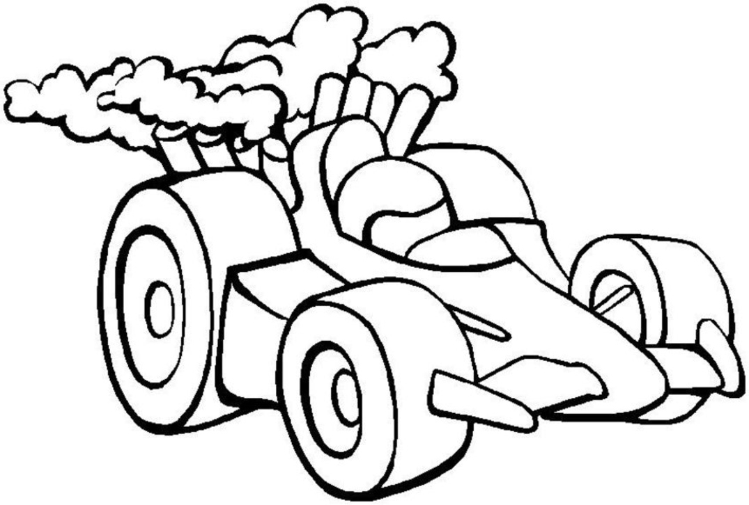 1075x726 Race Car Coloring Pages And Crafts Cakes For Kids Print Color