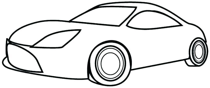 863x362 Simple Car Coloring Pages