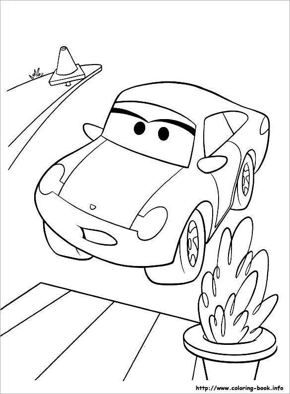585x794 Car Coloring Pages