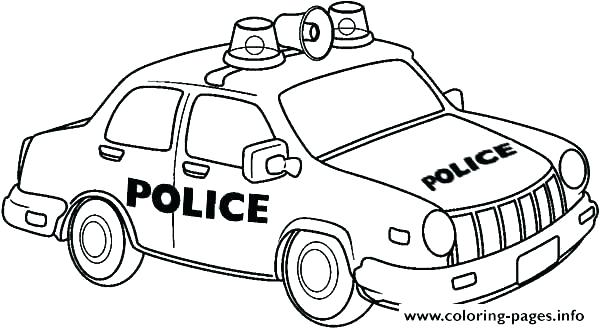 600x329 Cop Car Coloring Pages Police Coloring Page Police Car Coloring