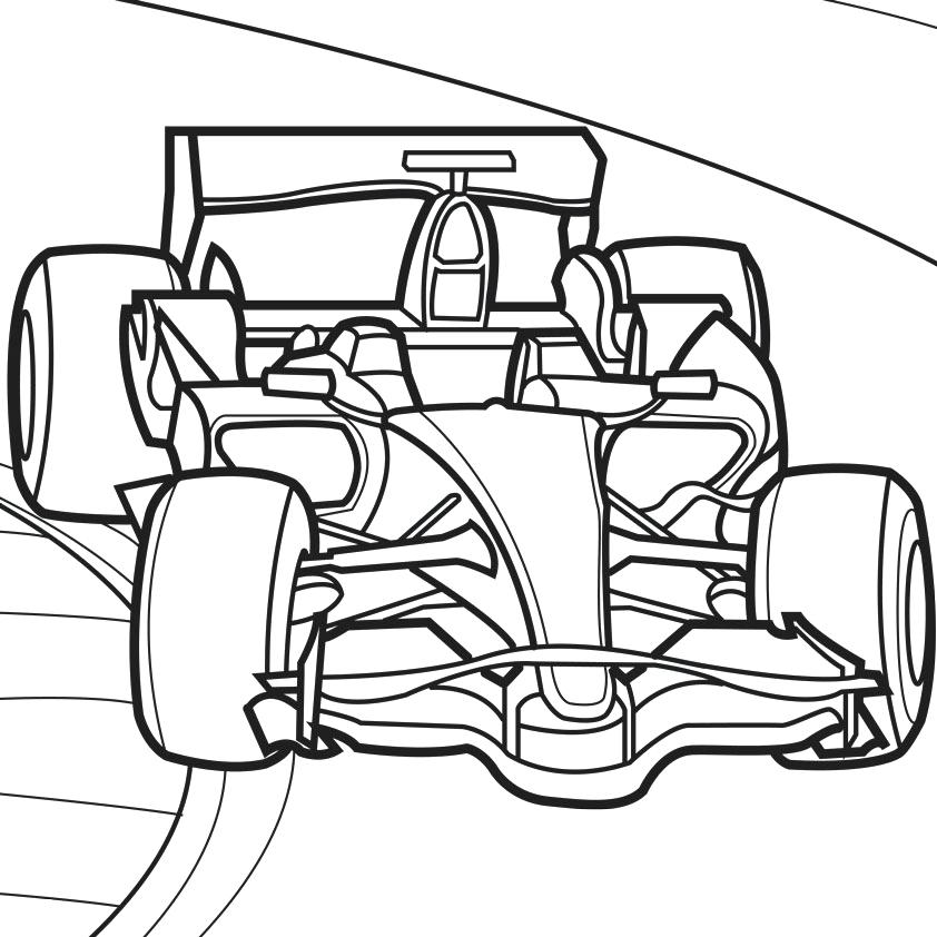 842x842 Racecar Coloring Page Race Car Coloring Pages Race Car Coloring