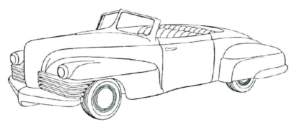 1024x420 Cars Coloring Page