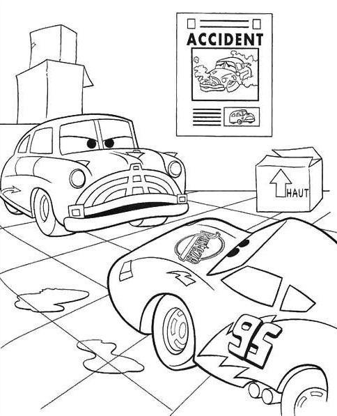 Car Crash Coloring Pages