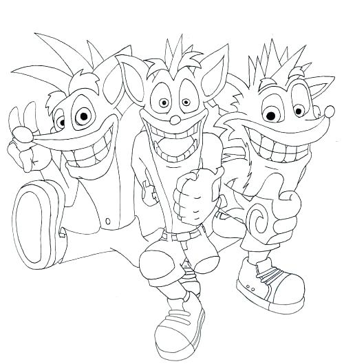 500x529 Coloring Crash Bandicoot Coloring Pages Car Cartoons Noddy
