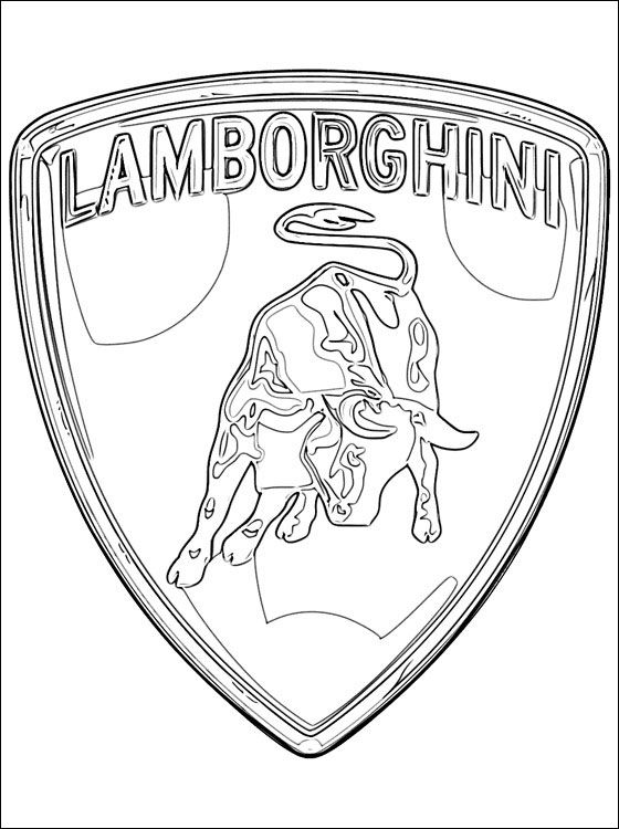 560x750 Lamborghini Logo Coloring Pages For Kids