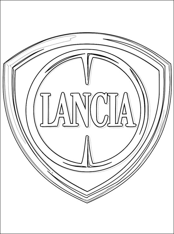 560x750 Lancia Logo Coloring Page Coloring Pages