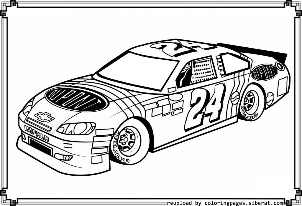 1024x700 Nascar Coloring Pages