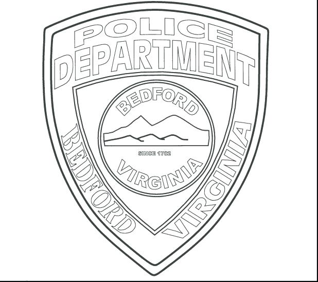 618x548 Police Badge Coloring Page Printable Police Hat And Badge Coloring