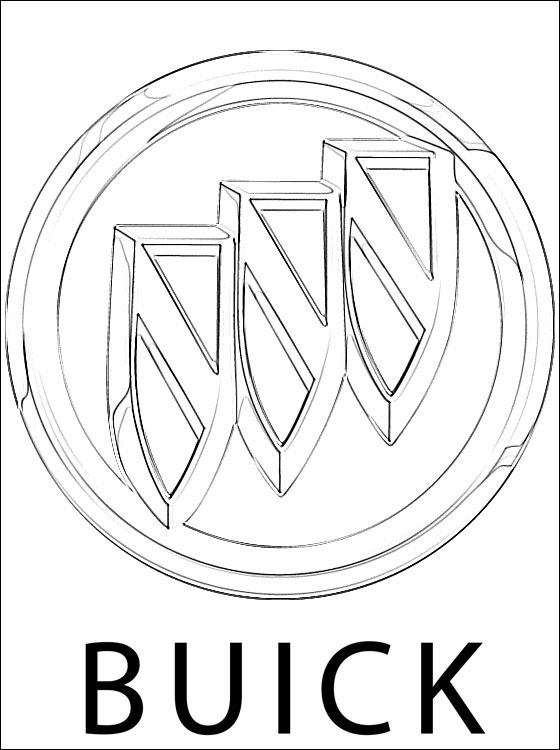 560x750 Buick Logo Coloring Page Coloring Pages