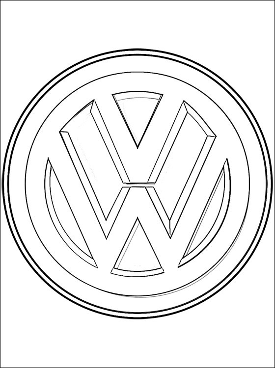 560x750 Car Logo Coloring Pages Volkswagen Logo Coloring Page Coloring