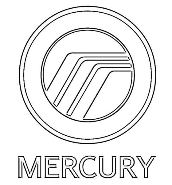 560x600 Car Logo Coloring Pages Coloring Page Mercury Logo Coloring Pages