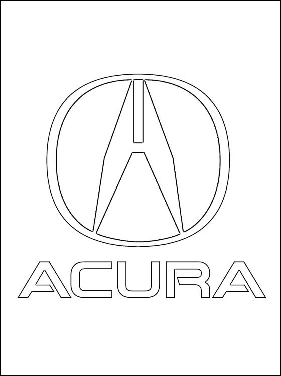 560x750 Coloring Page Acura Logo Coloring Pages
