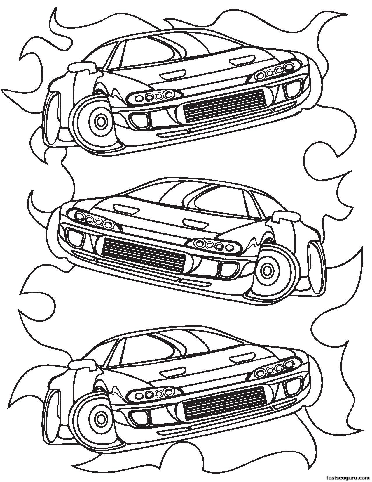 Car Printable Coloring Pages at GetDrawings.com | Free for personal ...