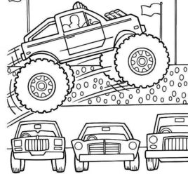 268x268 Cars Movie Mack Truck Coloring Page Coloring Pages Cars Trucks