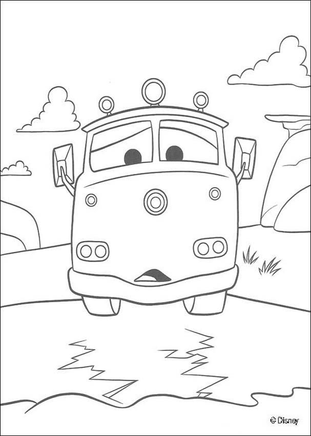607x850 Cars Red Fire Truck Coloring Page Freebies! Fire