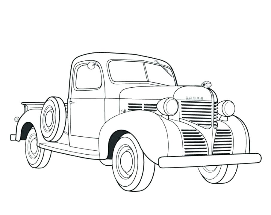 905x719 Old Truck Coloring Pages Old Truck Coloring Pages Dodge Pickup Old