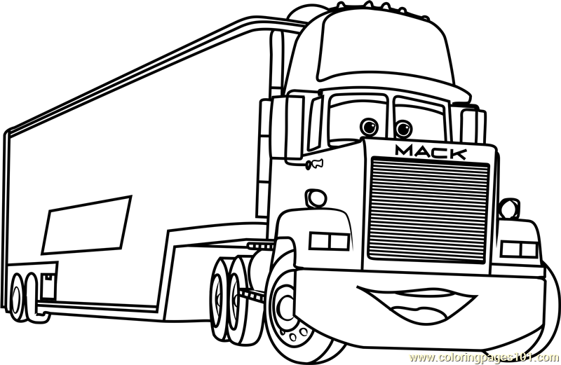800x521 Cars Mack Coloring Pages Mack Truck Coloring Pages Mack From Cars