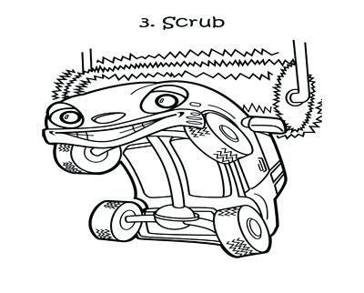 400x322 Car Wash Coloring Pages