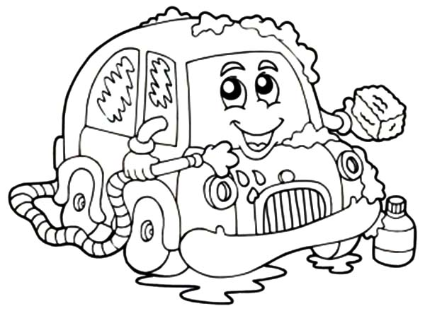 600x440 Car Wash With Soap Coloring Pages Car Wash With Soap Coloring