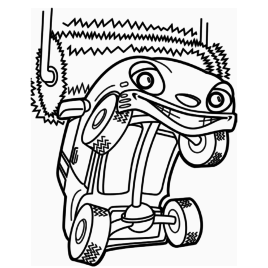 268x268 Coloring Page Car Wash Archives