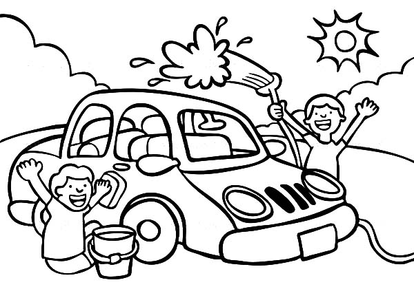 600x420 Coloring Pages Car Wash Car Wash Best Place To Color
