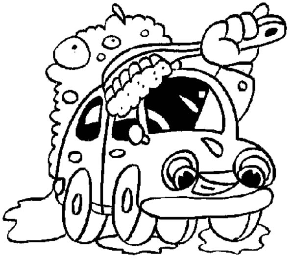 600x529 Giant Brush Car Wash Coloring Pages Best Place To Color
