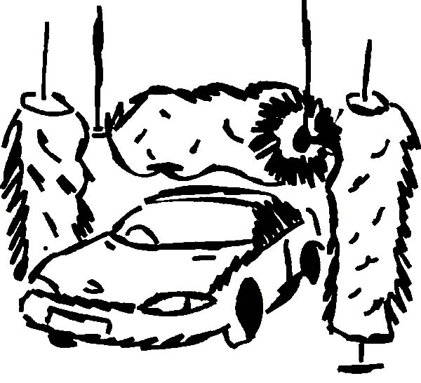600x546 Car Going Through The Wash Coloring Pages Best Place To Color