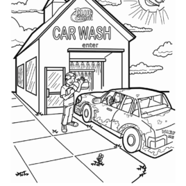 268x268 Car Wash Coloring Page Printable Archives