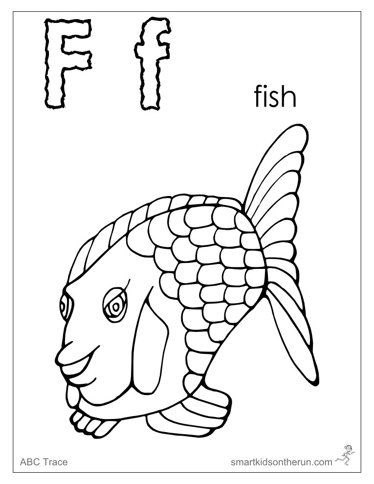 765x990 Letter F Coloring Pages