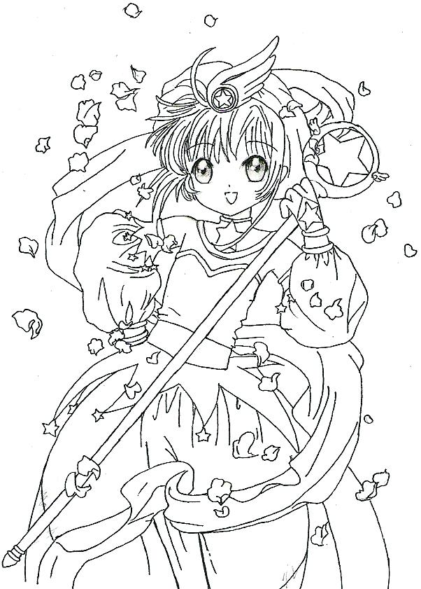 602x841 Cardcaptor Sakura Colouring Pages Cute Coloring A Kids